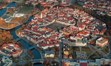 Ceske Budejovice from the birds eye
